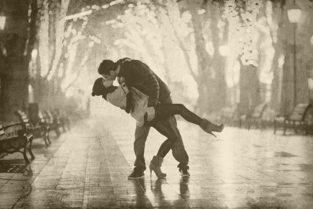 HIS passionate kiss